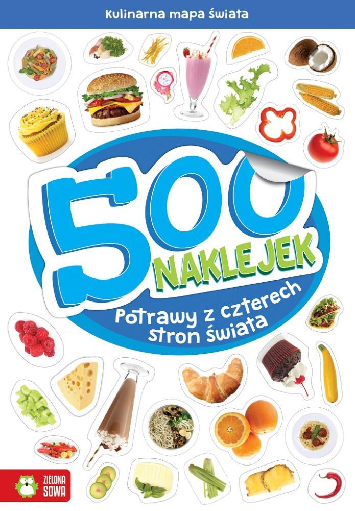 Zeszyt 500 naklejek Potrawy 6+