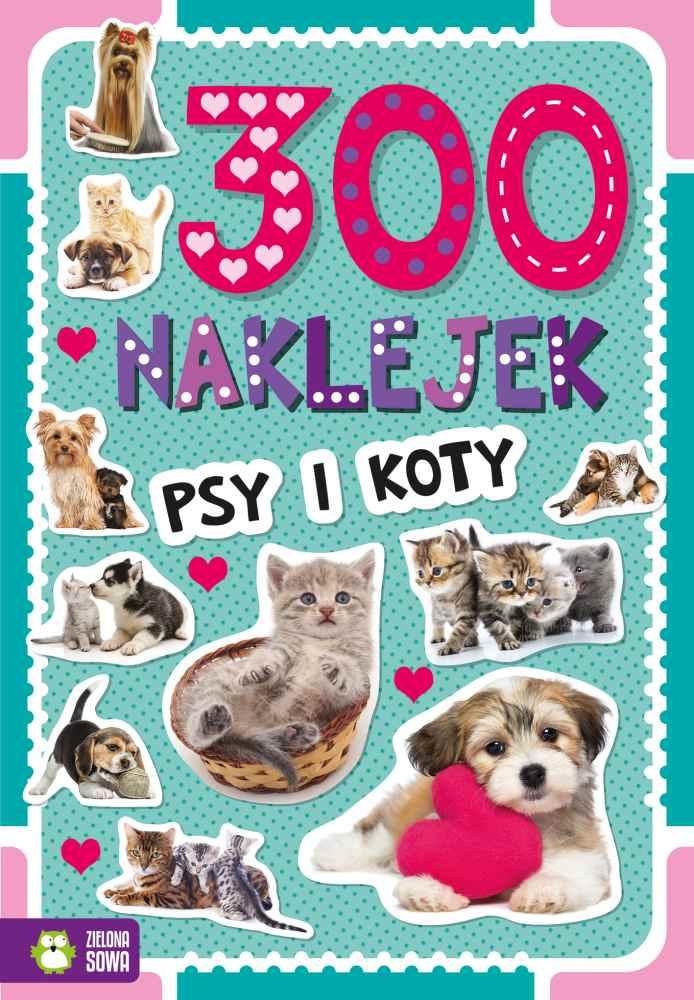 Zeszyt 500 naklejek Psy i koty 4+