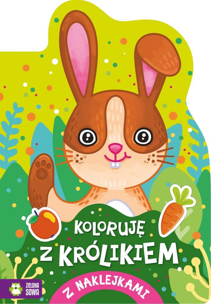 Kolorowanka z naklejkami Koloruję z królikiem 4+