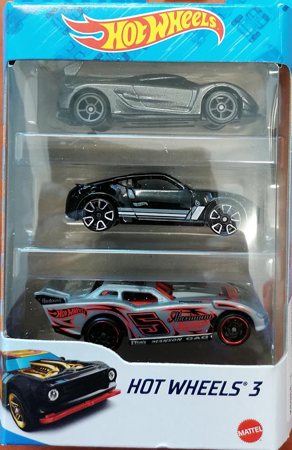 Hot wheels samochodziki 3-pak hot wheels 3 zestaw 1