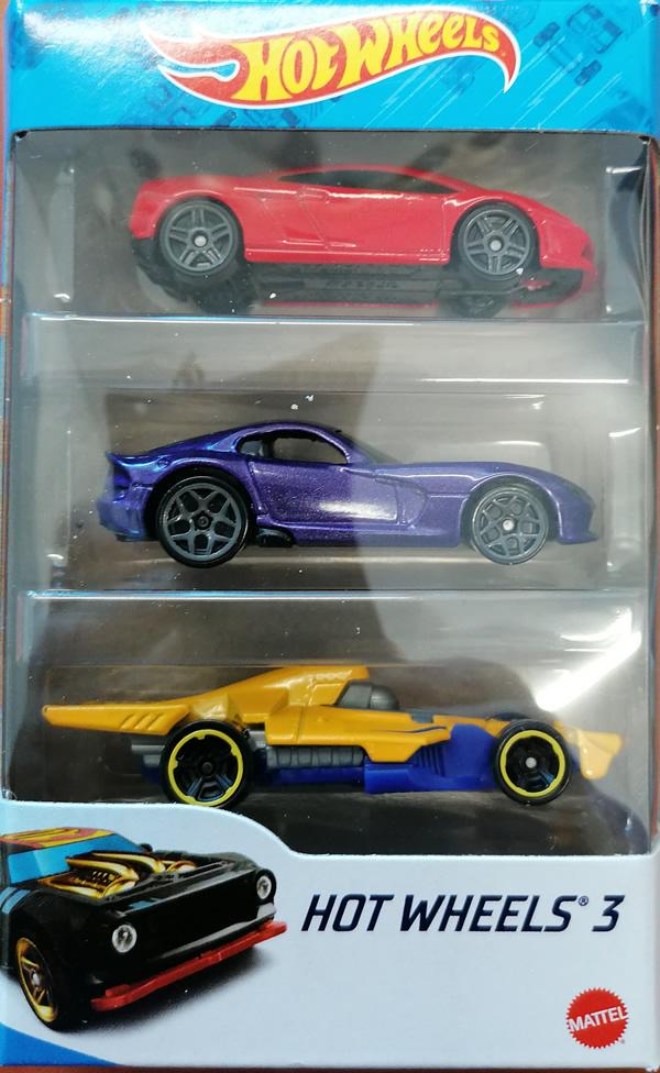 Hot wheels samochodziki 3-pak hot wheels 3 zestaw 3