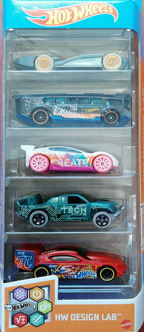 Hot wheels samochodziki 5-pak Hw Design Lab GTN34