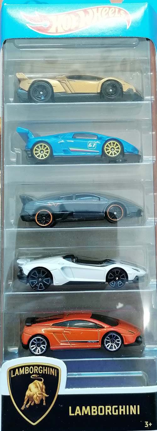 Hot wheels samochodziki 5-pak Lamborghini GHP62