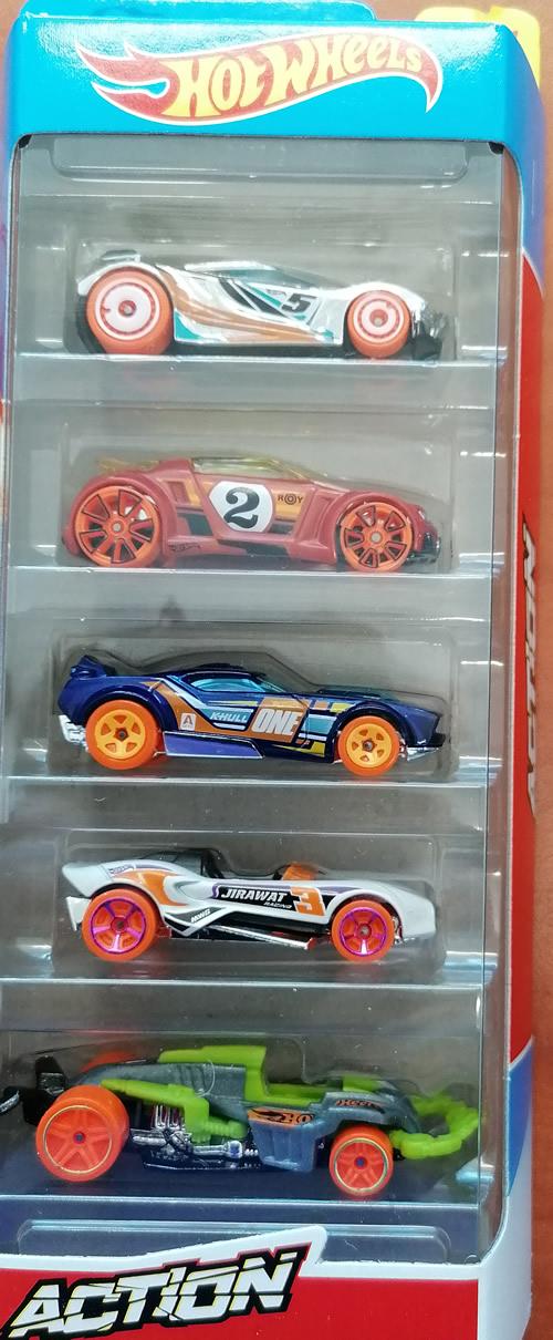 Hot wheels samochodziki 5-pak Action GHP64