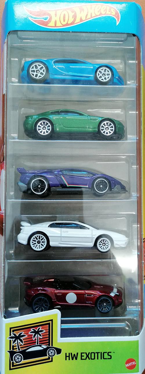 Hot wheels samochodziki 5-pak Hw Exotics GTN33