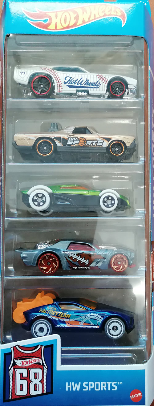 Hot wheels samochodziki 5-pak Hw Sports GTN37