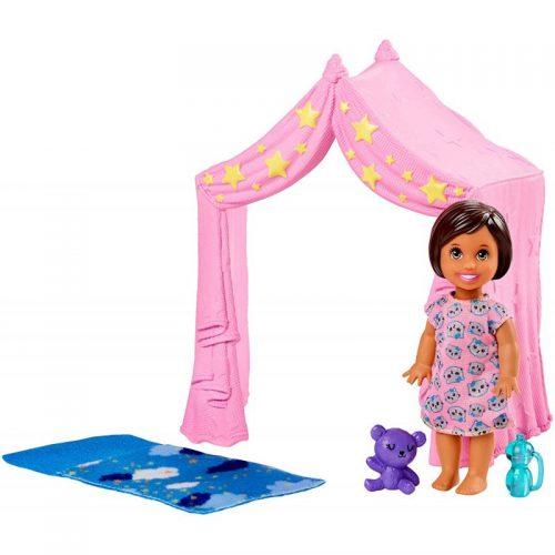 Barbie skipper zabawa w namiocie + laleczka FXG97 3+