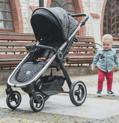 Wózek spacerowy do 25 kg Coletto Joggy 2021 kolor Grey Melange