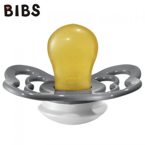 Bibs Supreme smoczek kauczukowy symetryczny Iron with white rozm S( 0-6m+)