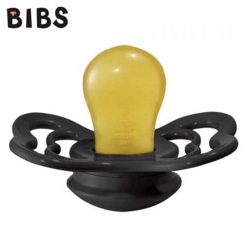 Bibs Supreme smoczek kauczukowy symetryczny 6m+ rozm M Black