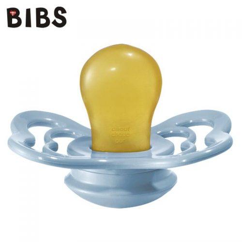 Bibs Supreme smoczek kauczukowy symetryczny 6m+ rozm M Baby blue