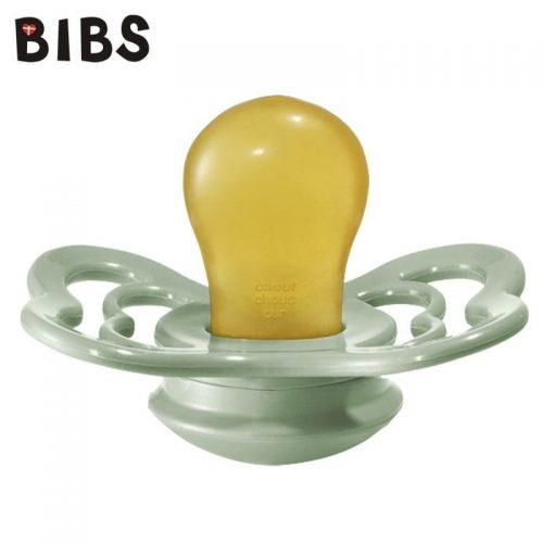 Bibs Supreme smoczek kauczukowy symetryczny 6m+ rozm M Sage