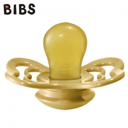 Bibs Supreme smoczek kauczukowy symetryczny 6m+ rozm M Mustard
