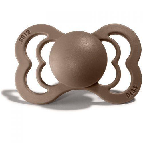 Bibs Supreme smoczek kauczukowy symetryczny 6m+ rozm M oak
