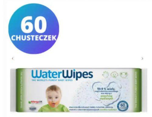 Water wipes chusteczki nasączane czystą wodą + wyciąg z orzechów mydlanych 60szt