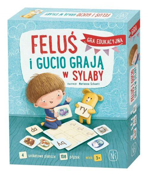 Gra edukacyjna Feluś i Gucio graja w sylaby 5+