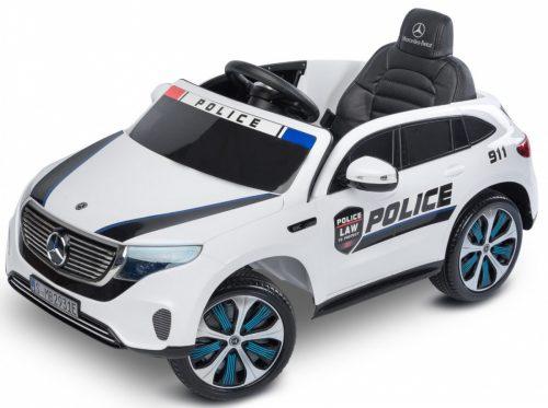 Pojazd na akumulator Mercedes Benz EQC Policja biały