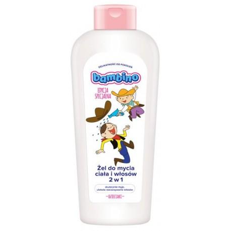 Żel do mycia włosów i ciała 2W1 Dzieciaki 400ml 12m+ Bambino