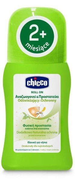 Chicco roll on na komary, preparat odstraszający komary 60ml 2m+