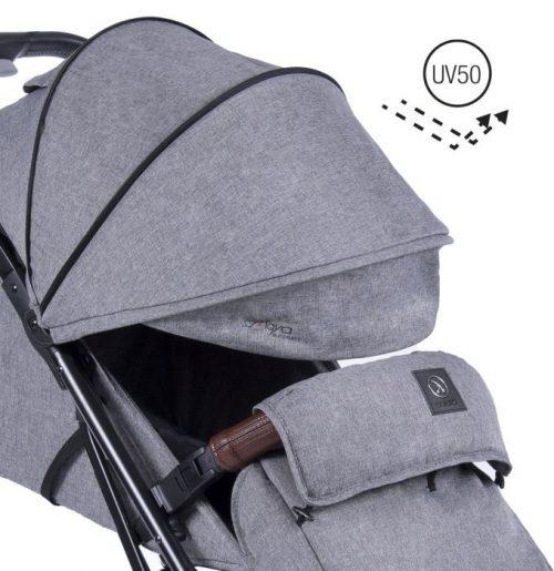 Samoskładający się wózek spacerowy do 22 kg Coletto Maya Automatic kolor Grey