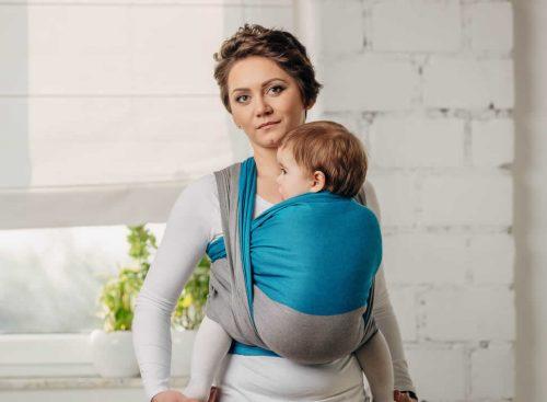 Lenny Lamb pierwsza chusta do noszenia dzieci tkana Sodalit rozm M 4,6m
