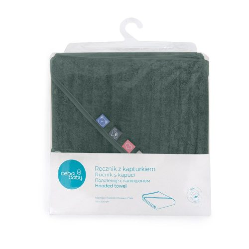Okrycie kąpielowe, ręcznik dla niemowlaka 100x100 Emerald Wave Line Ceba