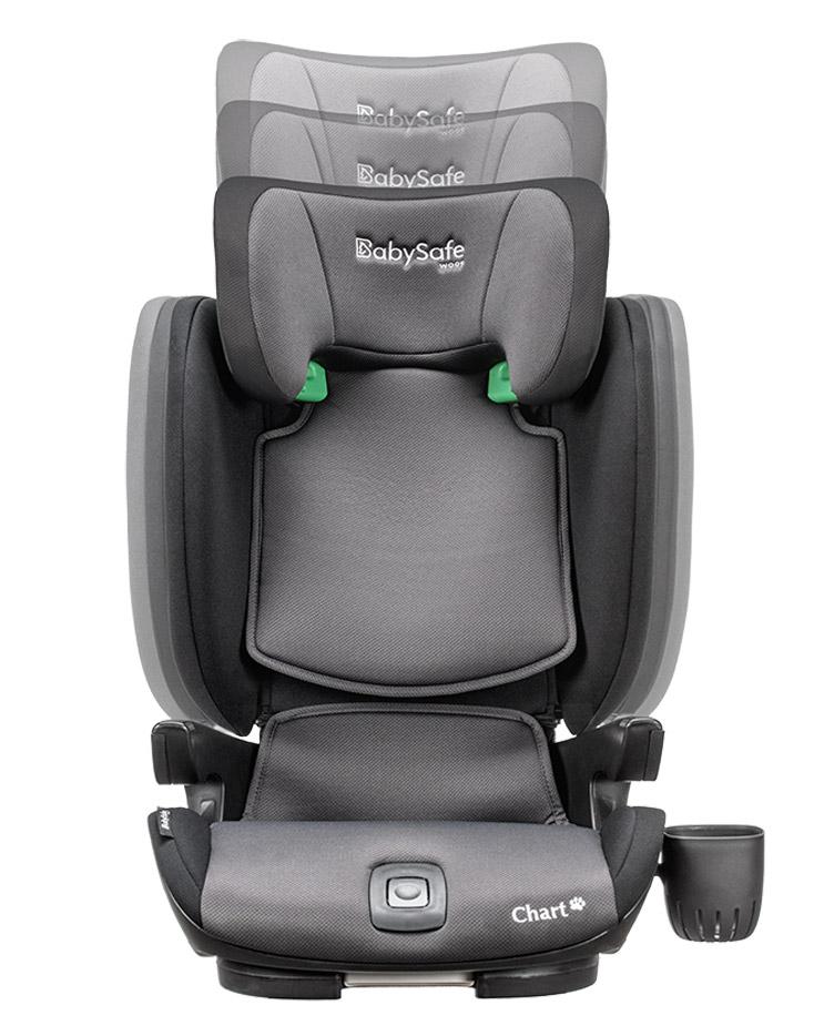 BabySafe Chart i-Size fotelik samochodowy od 100 - 150 cm wzrostu kolor Czarny