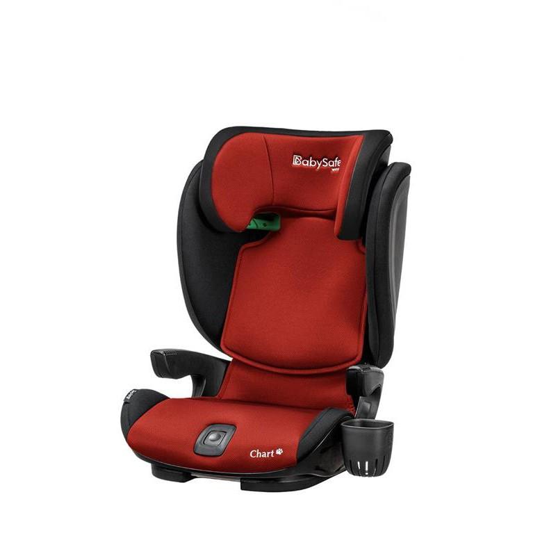BabySafe Chart i-Size fotelik samochodowy od 100 - 150 cm wzrostu kolor Czerwony