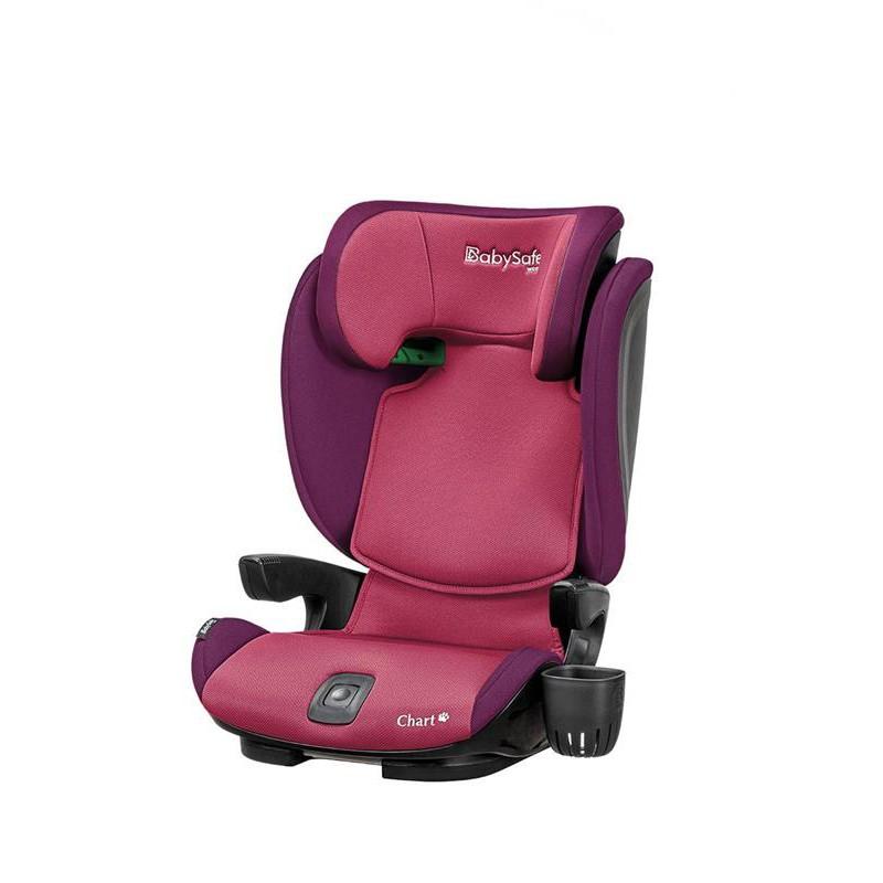 Fotelik samochodowy BabySafe Chart i-Size 15-36 kg kolor Różowy