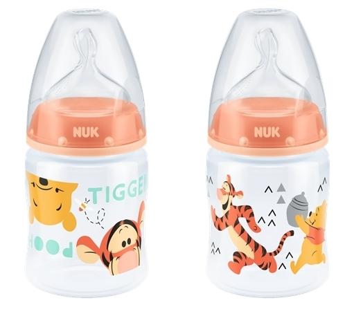 Nuk fc+ zestaw butelka 150ml smoczek silikonowy 0-6m rozm m 2szt pomarańczowy Kubuś