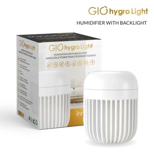 Innogio ultradźwiękowy nawilżacz powietrza z lampką róż GIOhygro