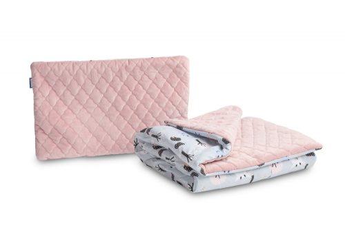 Komplet do łóżeczka kołderka i poduszka Jelonki plusz karo 95x75 35x25 Sensillo