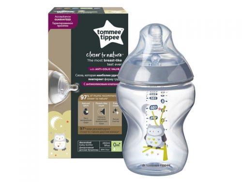 Butelki Tommee Tippee 260 ml bez Bisfenolu dla chłopca sowa