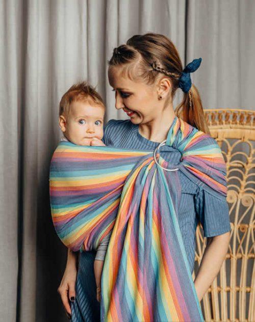 Lenny Lamb chusta do noszenia dzieci kólkowa splot skośno-krzyżowy rozm Standard (1,8m) Luna