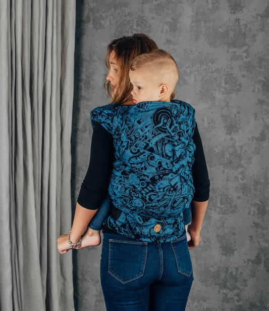Lenny Lamb nosidełko do noszenia dzieci Preschool (86-122) splot żakardowy Half Buckle Mechanizm perpetuum