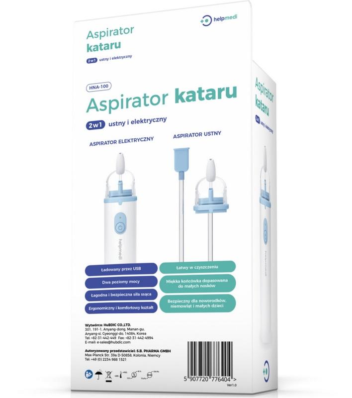 Aspirator karatu aspirator HelpMedi 2w1 elektryczny i ustny