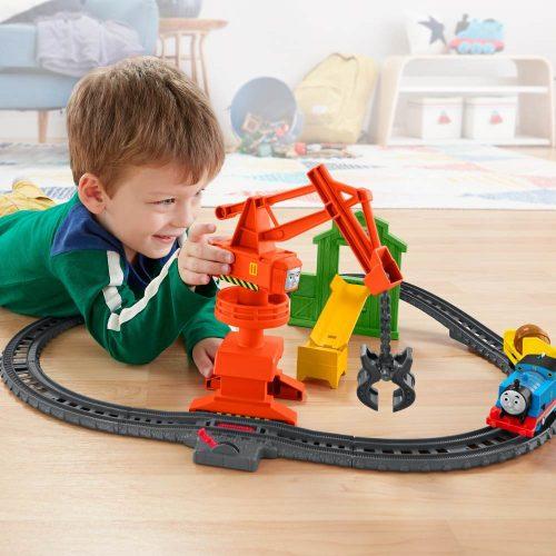 Tomek i Przyjaciele Track Master zestaw dźwig cassia i stacja załadunkowa + lokomotywa Tomek GHK83