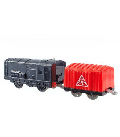 Tomek i Przyjaciele lokomotywa z napędem + wagonik BMK88 Diesel BMK91