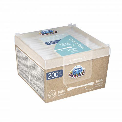 Bawełniane patyczki higieniczne 200szt Canpol Babies ekologiczne