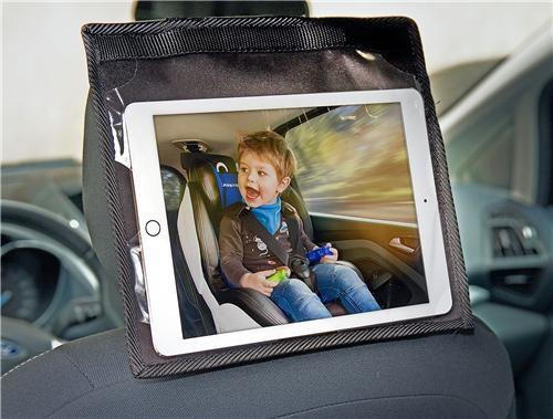 Uchwyt na tablet na zagłowek samochodowy Caretero czarny