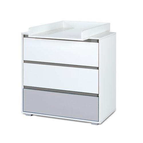 Łożeczko dalia 204x94 z szufladą łóżko młodzieżowe biały popiel Klupś