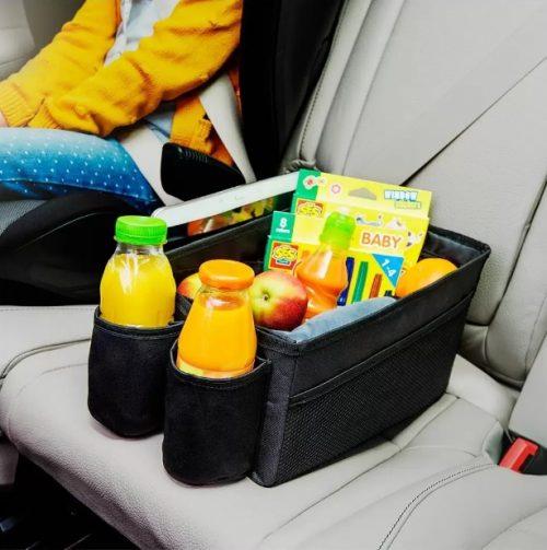 BabySafe organizer zabawki oraz przekąski dla dziecka do samochodu