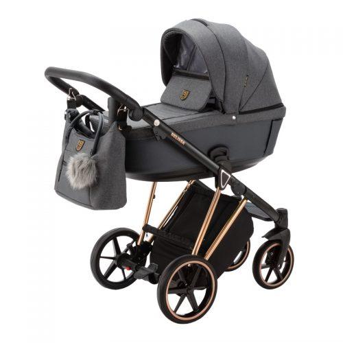 Adamex Belissa Special Edition wózek głęboko spacerowy zestaw 2w1 kolor PS-596