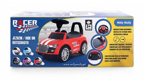 Pojazd jeździk pchacz dla dziecka Racer biały Milly Mally