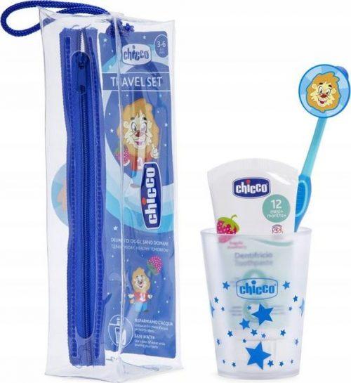 Chicco szczoteczka do zębów + pasta + kubek 36m+ niebieski