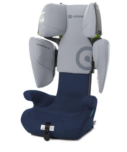 Fotelik samochodowy 15-36 kg Concord Transformer I-Tech i-Size 100 do 150 cm kolor Whale Blue