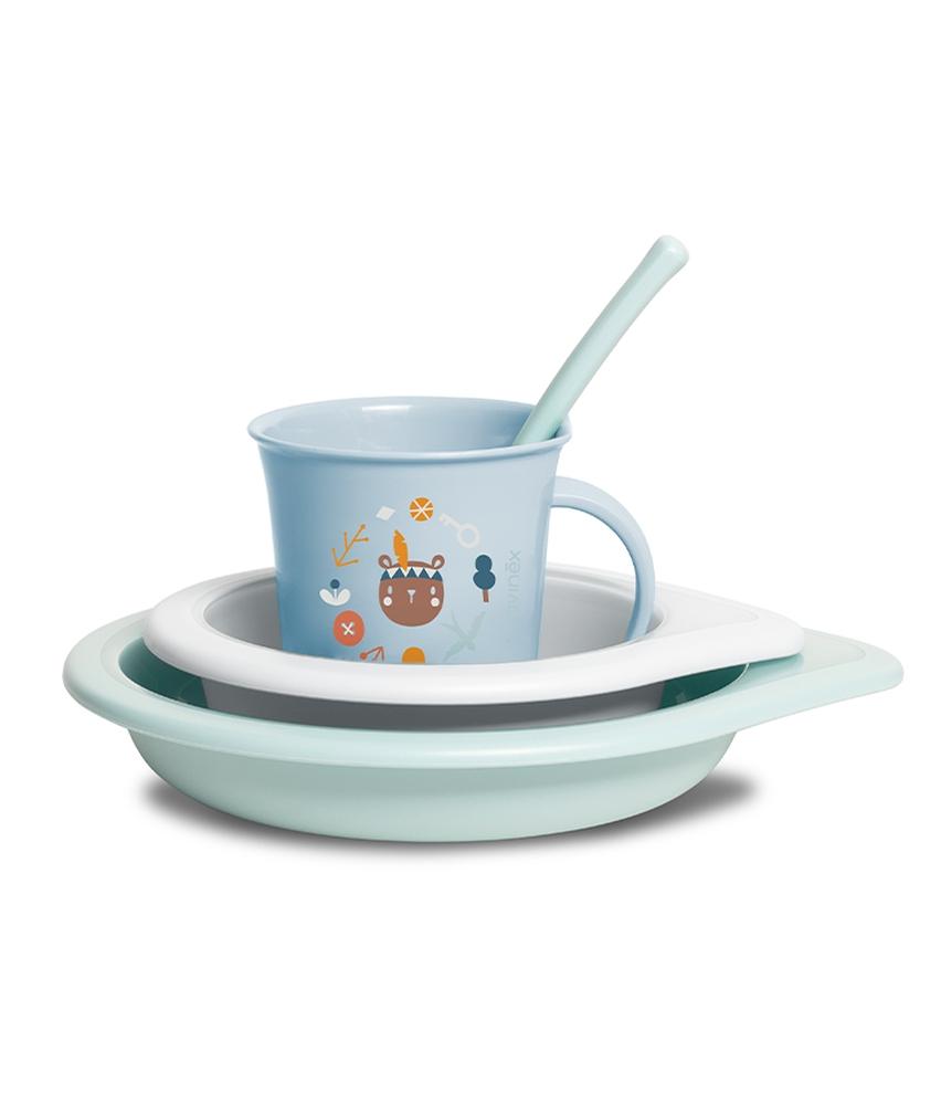 Zestaw obiadowy naczynia dla dziecka Forest Suavinex chłopak