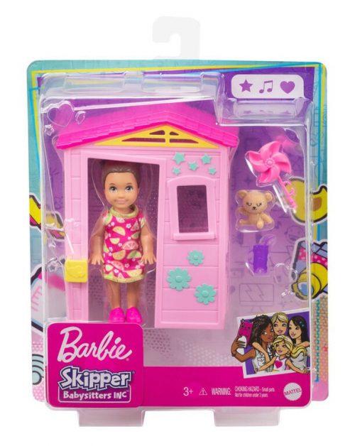 Domek dla lalki Barbie skipper+ lalka GRP15