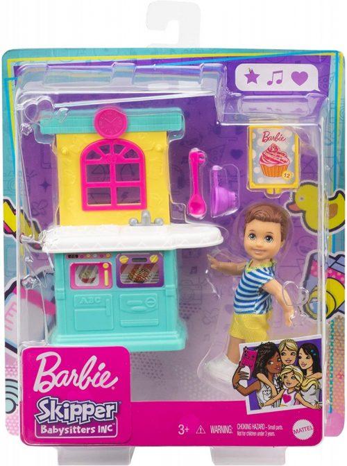 Barbie Skipper kichnia z lalką zabawka GRP16