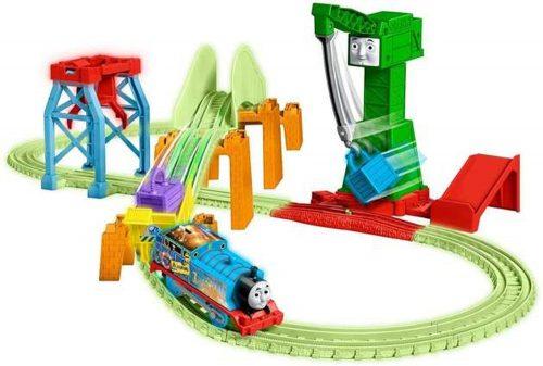 Świecąca kolejka Tomek i przyjaciele GBN45 tor kolejowy duzy zestaw